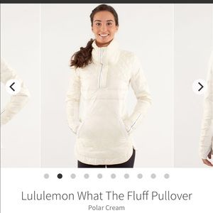 Lululemon what the fluff pullover. Size 4